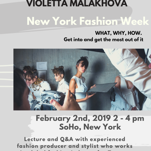Lecture by Fashion Producer and Stylist about New York Fashion Week