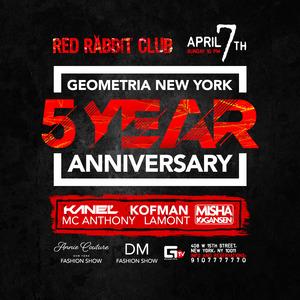 Geometria New York 5 Year Anniversary