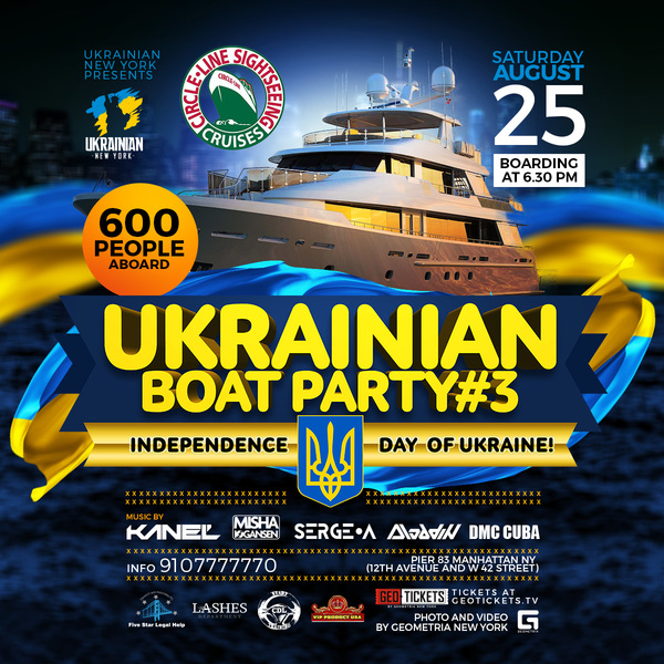 Ukrainian Boat Party #3 Independence Day of Ukraine